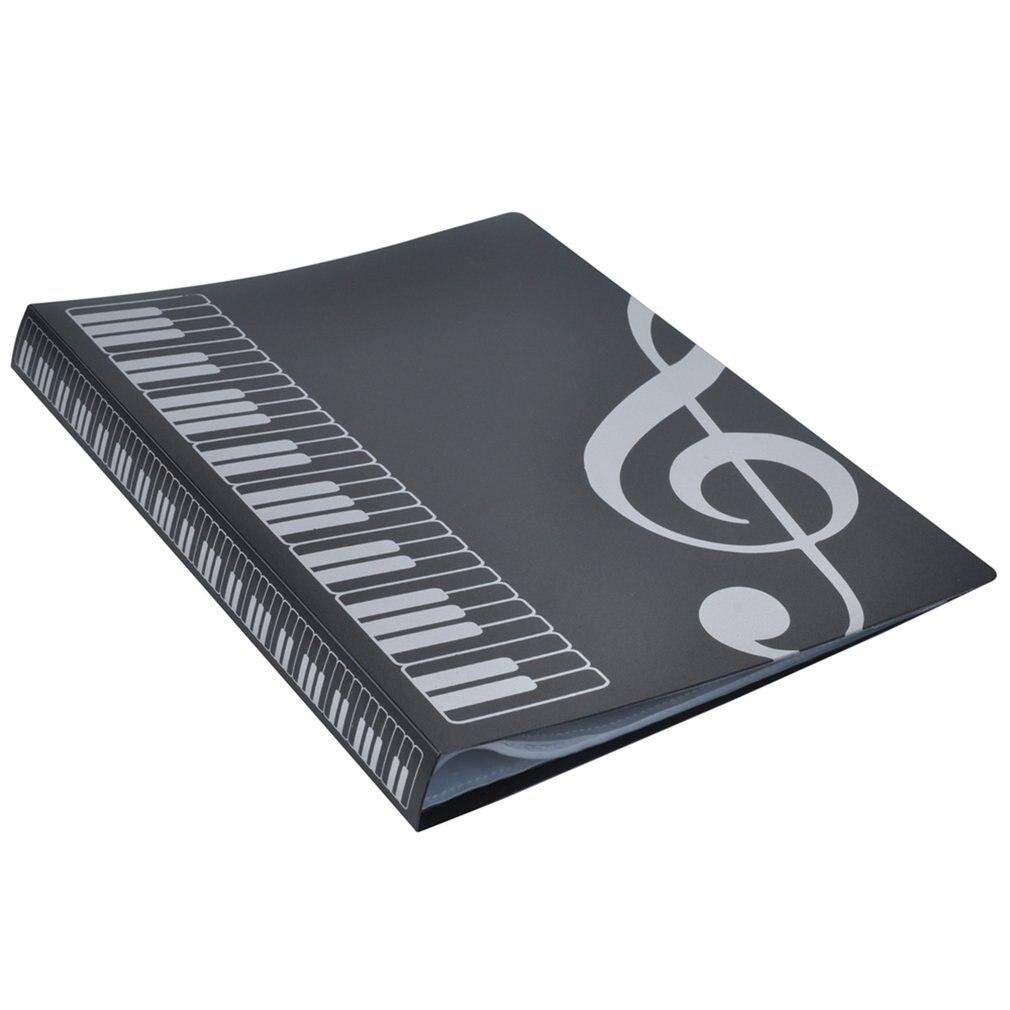 80 Sheets A4 Music Book Folders Piano Score Band Choral Insert-type Folder Music Supplies Waterproof File Storage Product