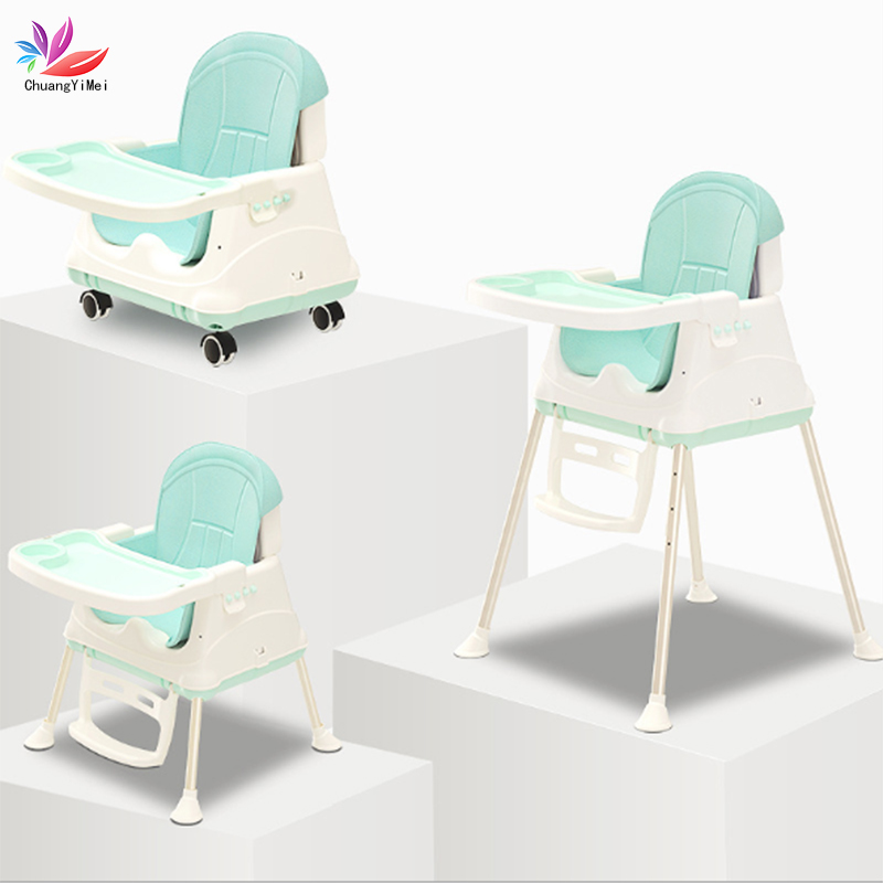 High Chair Feeding Chair Baby Chair Booster Seat Children 3 In 1 Adjustable Folding Chairs Kids Highchair Seat Baby Eating Seats