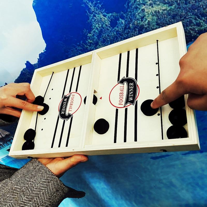 Foosball Winner Board Game Bounce Chess Eject Chess Parent-Child Interactive Chess Bounce Chess Ruffle Ball Desktop Hockey Toy(China)