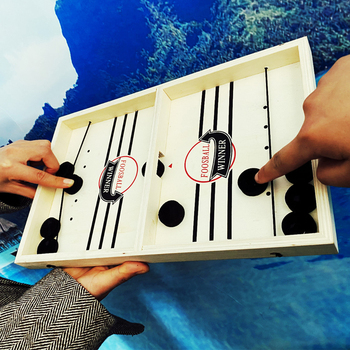 Foosball Winner Board Game Bounce Chess Eject Chess Parent-Child Interactive Chess Bounce Chess Ruffle Ball Desktop Hockey Toy
