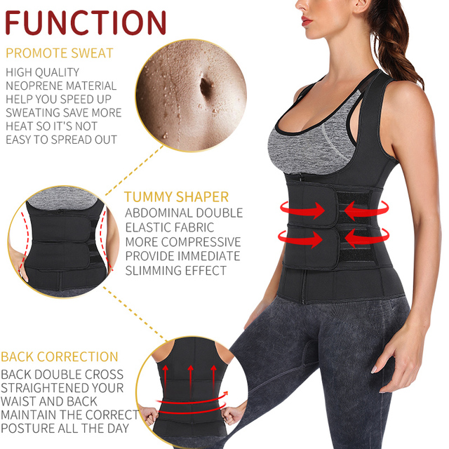 Waist Trainer Neoprene Body Shaper Women Slimming Sheath Double Belt Sweat Shapewear Fat Burning Corset Sauna Vest Trimmer Belt 3
