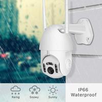 1080P kamera kopułkowa z obrotową kamerą PTZ na świeżym powietrzu kamera Wifi dwukierunkowy dźwięk widzenie w podczerwieni sieci CCTV nadzoru domu 2MP H.265 kamerę IP Onvif w Kamery nadzoru od Bezpieczeństwo i ochrona na