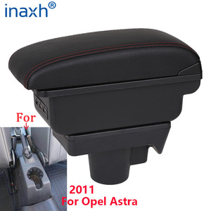 Image 1 - For Opel Astra Armrest Box Opel Astra H Car Armrest 2011 interior refitting accessories Storage box USB Easy to install