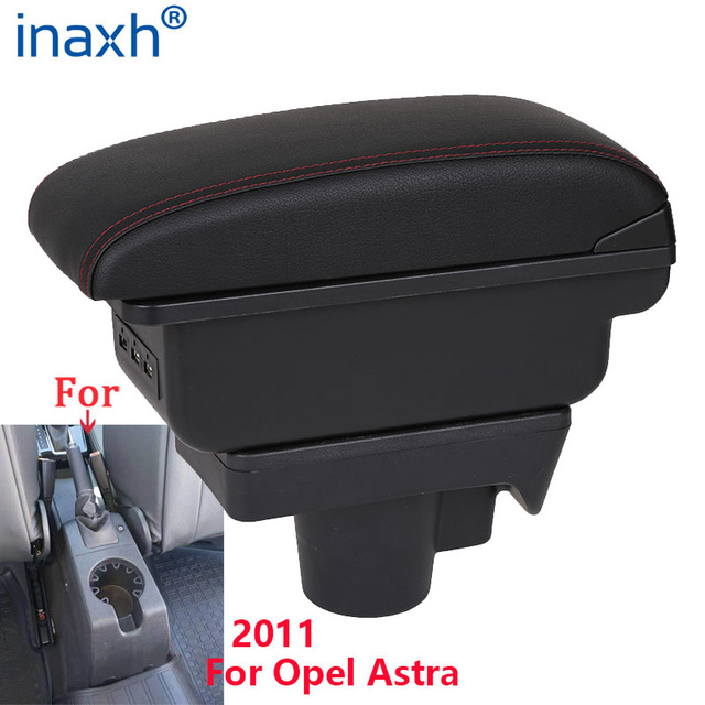 For Opel Astra Armrest Box Opel Astra H Car Armrest 2011 interior refitting accessories Storage box USB Easy to install