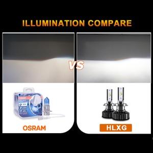 Image 3 - HLXG H4 H7 4 LEVOU Chips de LED Lâmpada Do Farol Do Carro Kit H7 12V 12000LM 80W 6500K Luz do Farol hb3 LEVOU HB4 LED H11 H8 H9 9005 9006