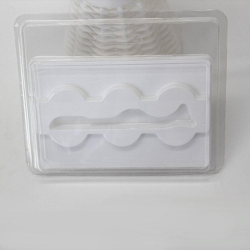 Com Uma Pinça Cílios Caso Recipiente De Plástico Reutilizável