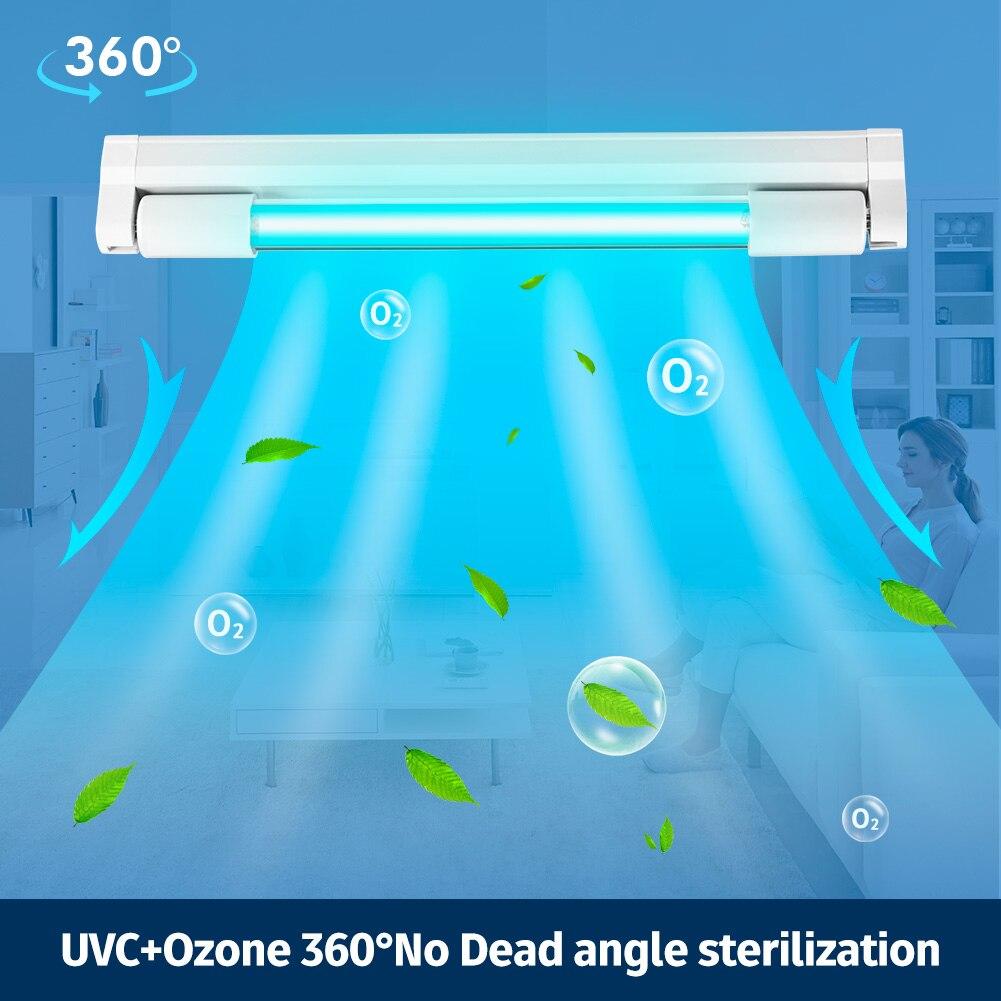 8W de ozono esterilizador UVC matar Virus Influenza T5 tubo germicida dormitorio Hotel bactericida desinfección para Hospital de luz