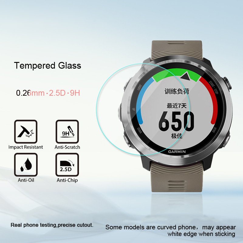 Screen Protective <font><b>Cases</b></font> For <font><b>Garmin</b></font> <font><b>Forerunner</b></font> <font><b>645</b></font> / 935 / 735xt Watch Tempered Film Ultra-thin 0.26mm Arc Edge Watch Accessories image