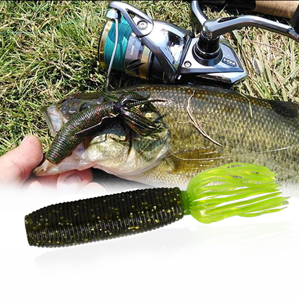 Hunthouse Fat Ika 10cm 10g Fishing Soft Lure Easy Shiner Shad Lures Silicone Leurre Souple For Fishing Black Bass Perch Zander