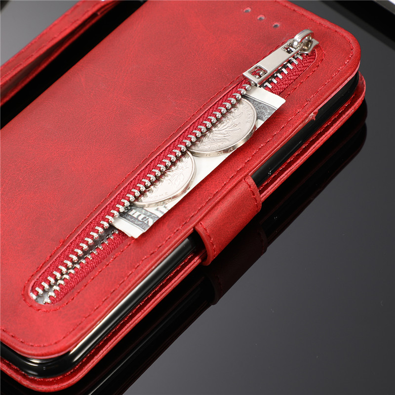 Leather Zipper Flip Cover Wallet Case For Samsung Galaxy S20 Ultra S10 S9 S8 Plus S7 Note 8 9 10 Cover 3
