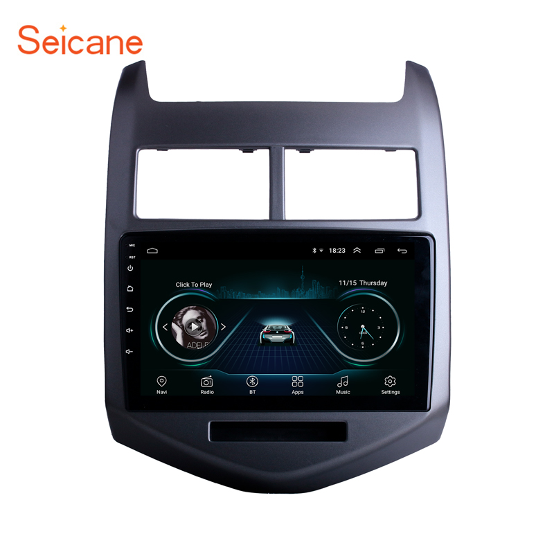 Seicane Android 8.1 Radio GPS Navigation System for 2010 2011 2012 <font><b>2013</b></font> Chevy Chevrolet <font><b>AVEO</b></font> Bluetooth Touch Screen Radio 3G image