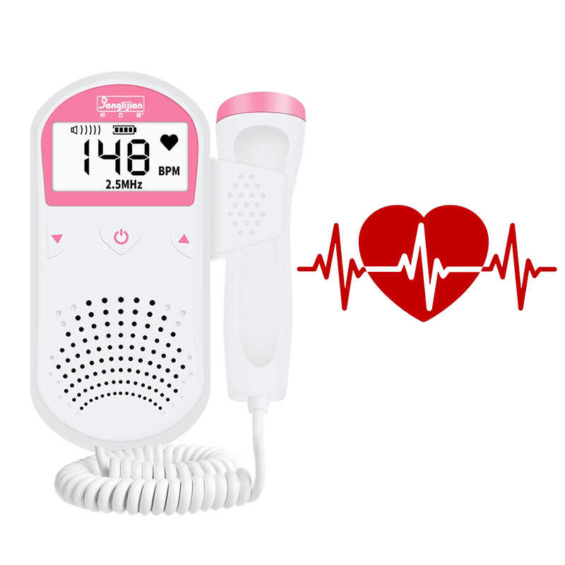 Digital Portable Fetal Doppler Monitor USG Bayi Denyut Jantung Detector Panduan Hamil Doppler LCD Display Infrared Rays