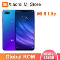 Original Xiaomi Mi 8 Lite 6GB RAM 128GB ROM Cellphone Snapdragon 660 AIE Octa Core 6.26