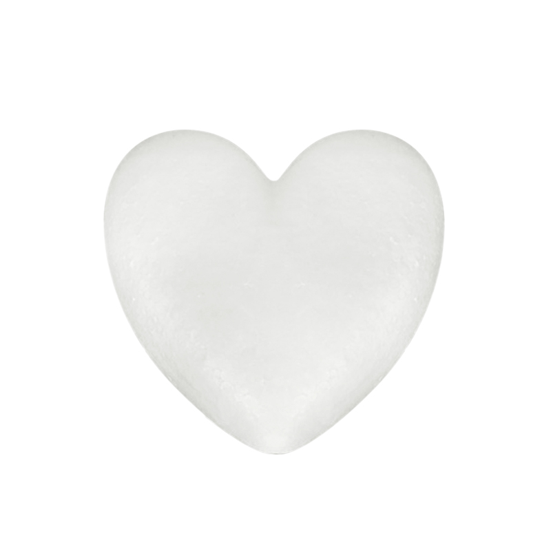 Heart Shaped Modeling Foam Polystyrene Styrofoam White Bear Foam Gifts Heart Ball Ornaments Crafts Flower Party Wedding Decor