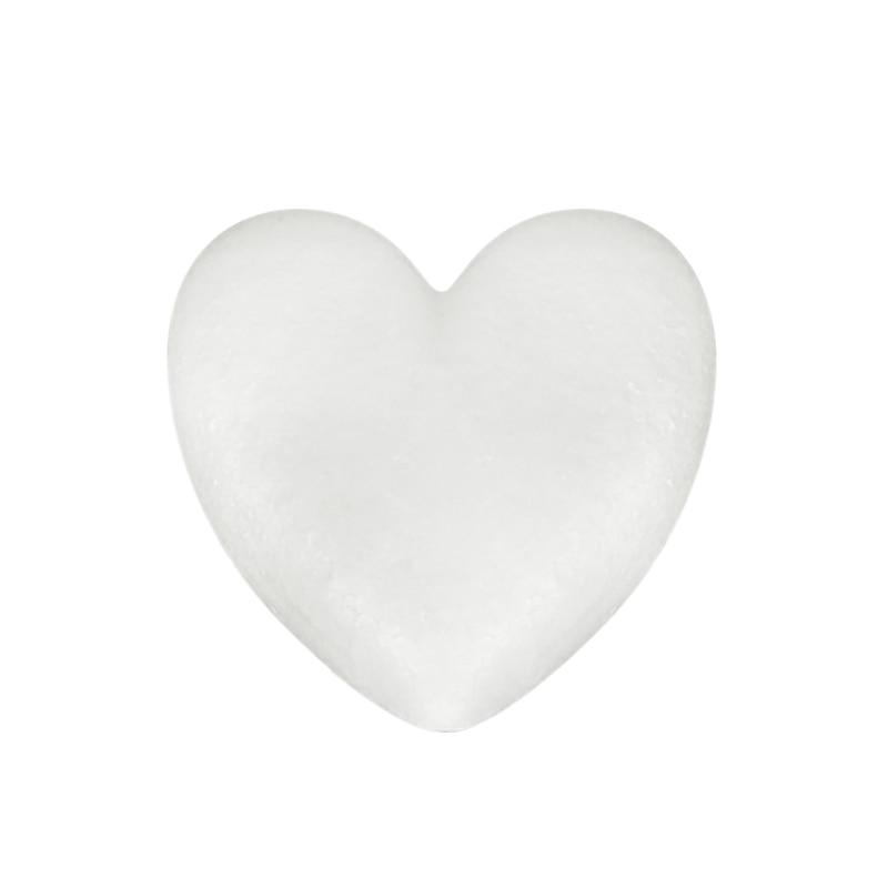 Heart Shaped Modeling Foam Polystyrene Styrofoam White Bear Foam Gifts Heart Ball Ornaments Crafts Flower Party Wedding Decor