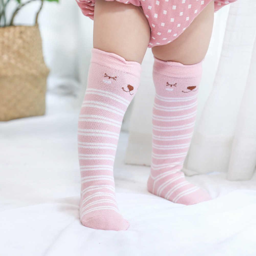 사랑스러운 여우 귀 동물 인쇄 아기 unisex 부드러운 통기성 중간 튜브 승무원 양말 소년 소녀 아기 가을 겨울 따뜻한 부드러운 귀여운 양말