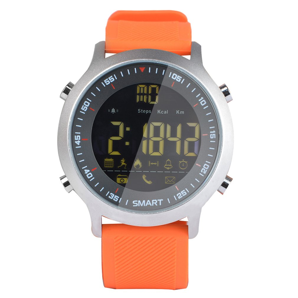 EX18 Sports Smart Watch Step Counter Phone Information Alarm Clock Reminder Bluetooth Waterproof Luminous Dial Wristwatch