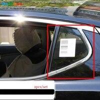 Para kia k5 optima 2011 2012 2013 2014 2015 terceiro ge aço triângulo janela traseira do carro capa decorativa guarnição exterior acessórios