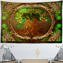 World Tree Tapestry Wall Hanging Boho Decor Wall Cloth Tapestries Psychedelic Hippie Night Moon Tapestry Mandala Wall Carpet