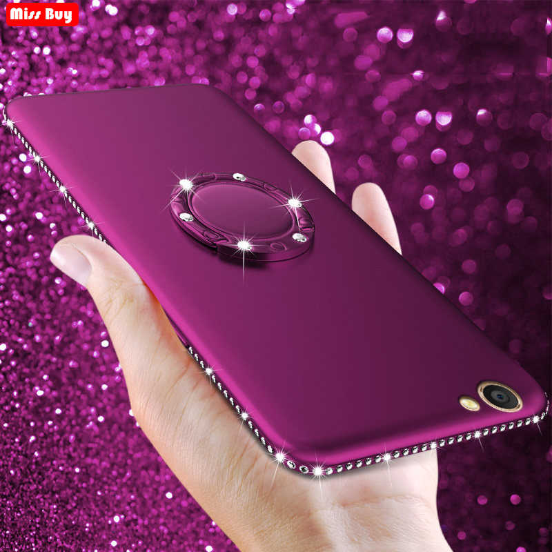 Bling Diamond Silicon Soft Cover For OPPO F1S A59 F3 F7 F5 F9 A3 A5 A83 A73 A79 A53 A33 A71 A37 A7 Coque + Finger Ring Magnetic