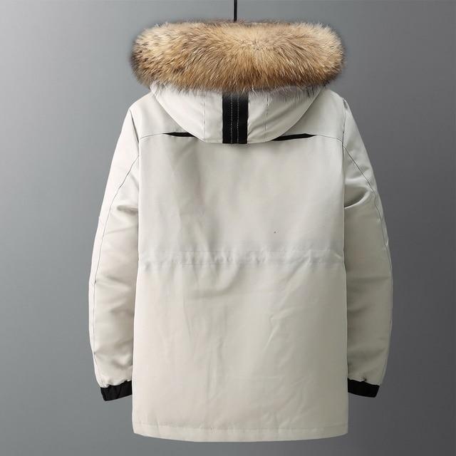 Large size loose coat Men Winter Jacket Men Hooded Duck Down Jacket Male Windproof Parka Thick Warm Overcoat coats 5858 4