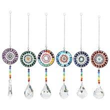 Crystal Wind Chime Suncatcher Chandelier Hanging Ball Prisms Chakra Pendants for Kids Girls Birthday Gift