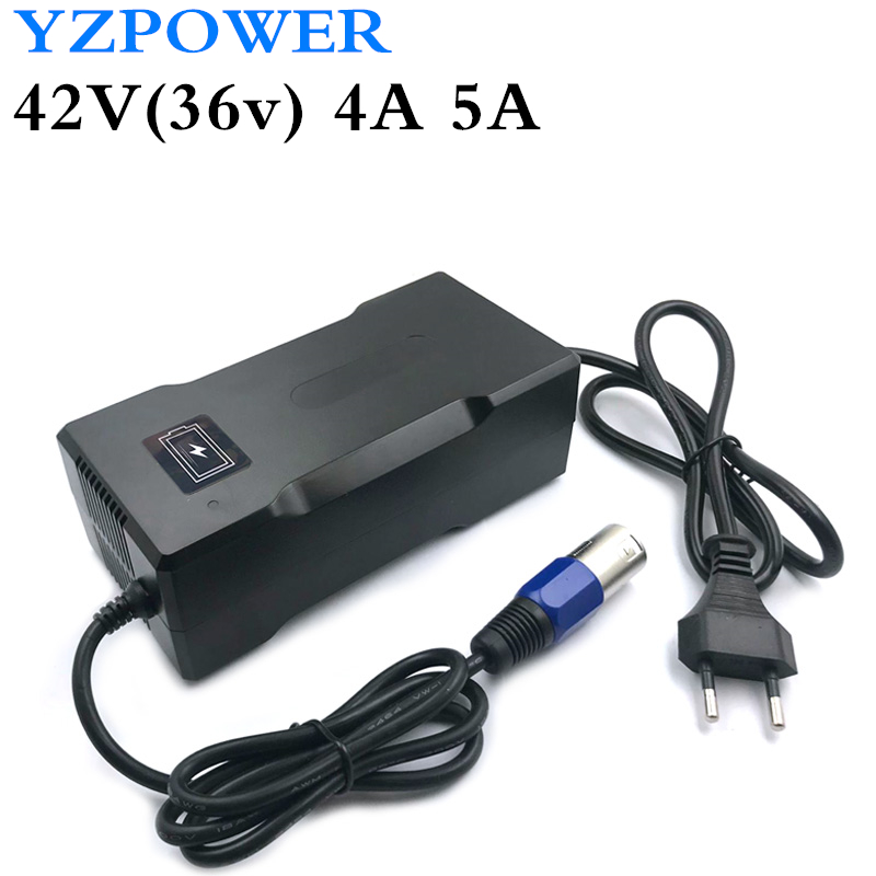 YZPOWER 42V 4A Lithium Li-ion Battery Charger For 36V Lipo Bike Power Tool Scooter Battery Pack