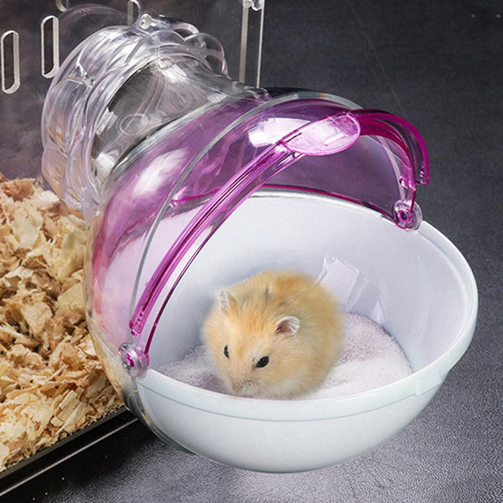 Mini Round External Bathroom For Pet Hamster Cage Random Color