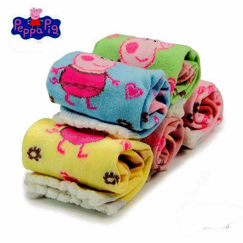 2019 New 1pairs Genuine Peppa Pig Autumn Socks Kids Cute Boy Girl Cotton Socks Peppa Pig Children Birthday Gift Plush Toy