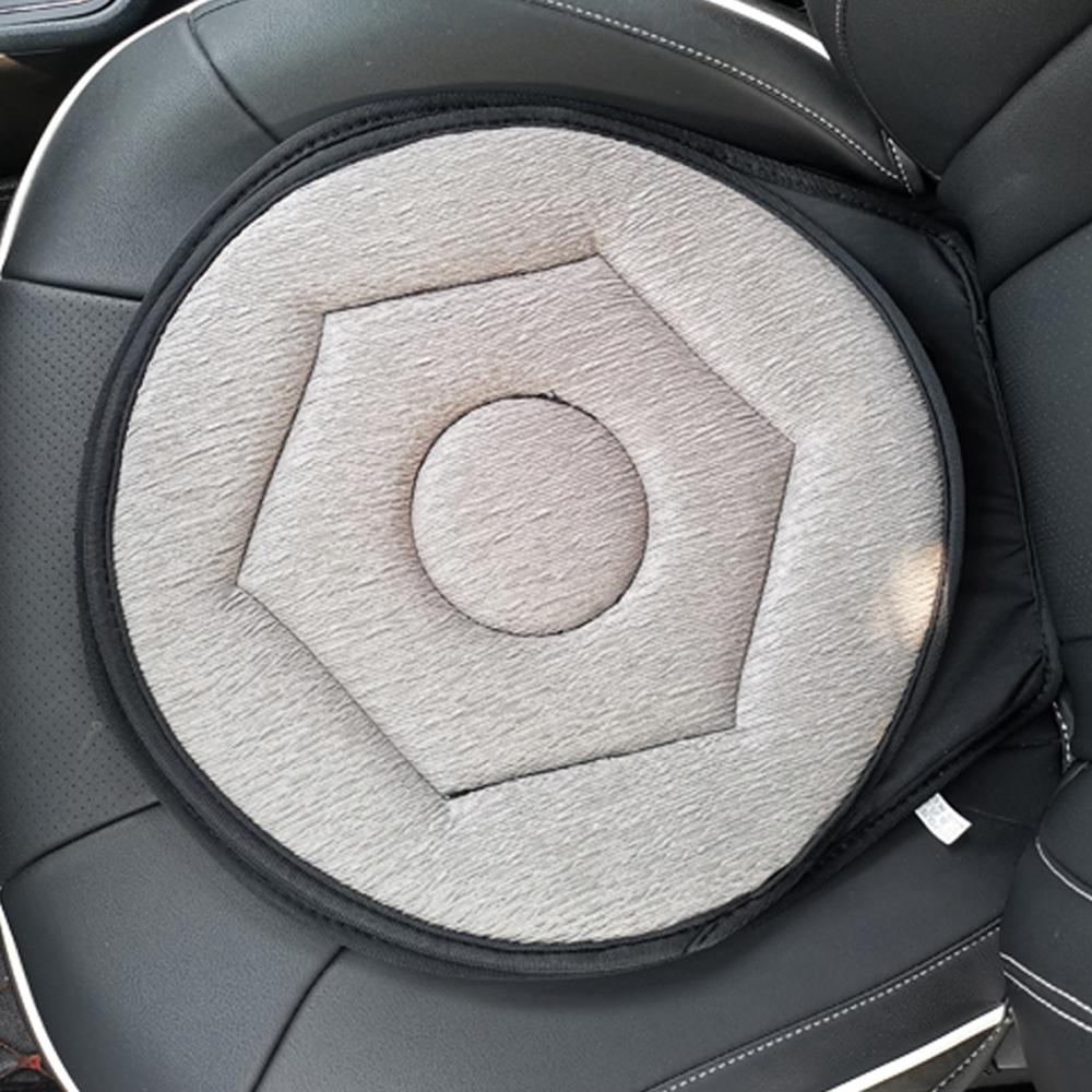360° Car Rotating Cushion Seat, Auto Swivel Seat Cushion, Ultra-Thin Flexible Design Special Fit Car Vehicle Sport Seat Space