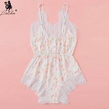 Leechee кружевная ночная сорочка без рукавов для женщин с волнистыми