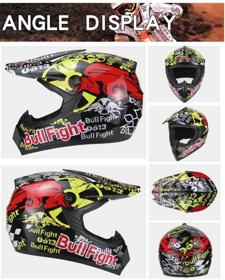 2019 Professional Racing helmet Motocross Casque hors route Casque Moto Capacete Off-road Cartoon Children Motorcycle