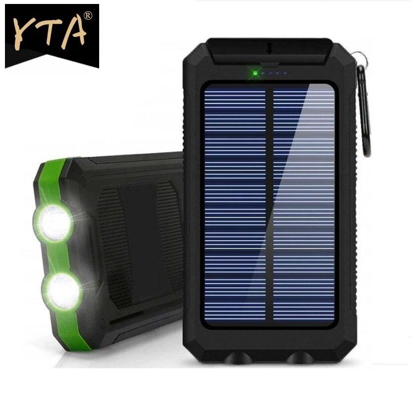 Солнечный 80000 мА/ч, Мощность мобильные аккумуляторы Dual USB Мощность банк Водонепроницаемый Батарея внешний Портативный зарядки с светодиодн...