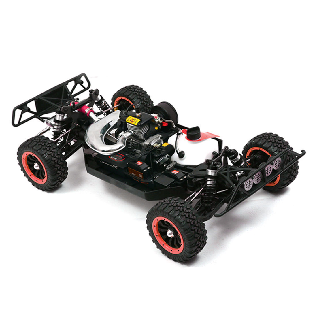 High Quliaty 1:5 Scale 2.4G 4WD High Speed RC Gasoline Short Course Truck Off-Road Vehicle Best Gift Toys Games- Blue