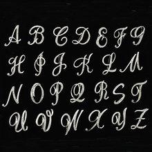WEIMANJINGDIAN – broche avec lettres de A à Z pour femme, en alliage de Zinc, cristal clair, strass, couleur argent plaqué