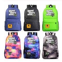 Fashion Hot Game GTA5 Grand Theft Auto V Boy Girl Book School Bag Women
