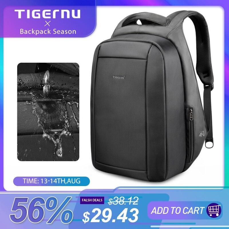 Tigernu Mochila Laptop-Backpacks Usb-Charger Zipper Travel Anti-Theft Multi Hidden School