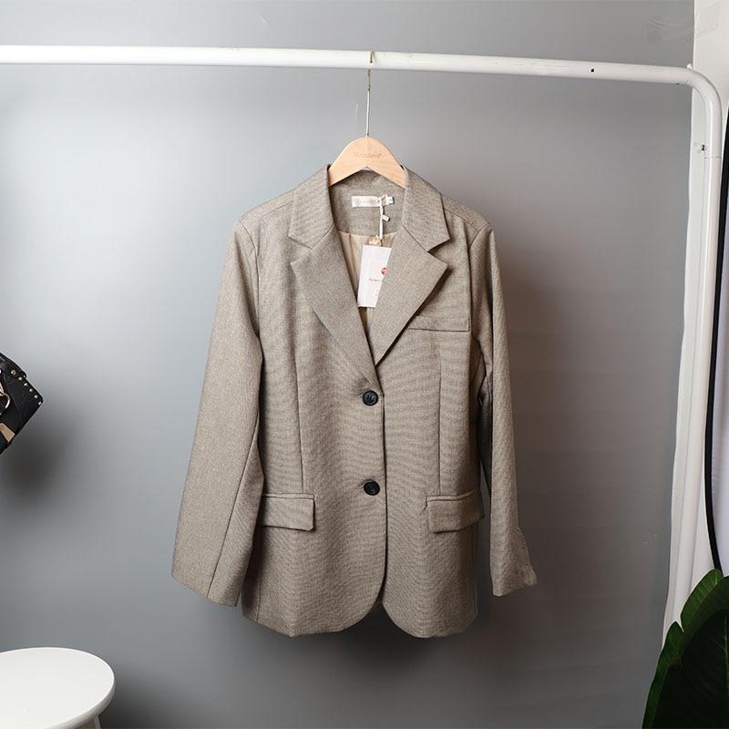 Mozuleva 2020 Retro Solid Blazer Set Single-breasted Jacket & Pencil Skirt 2 Pieces Skirt Suit Female Office Ladies Blazer Suit 8