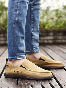UPUPER Casual-Shoes Loafers Flats Slip-On Male Summer Ultralight Canvas for Men Spring