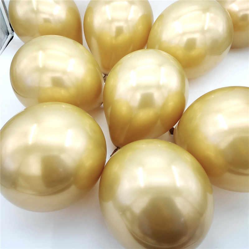 25 Pcs 5/10/12 Pollici Chrome Metallic Palloncini in Lattice Metallico Globos Gonfiabile Pallone Ad Elio Festa di Compleanno Decor ballon Matrimonio