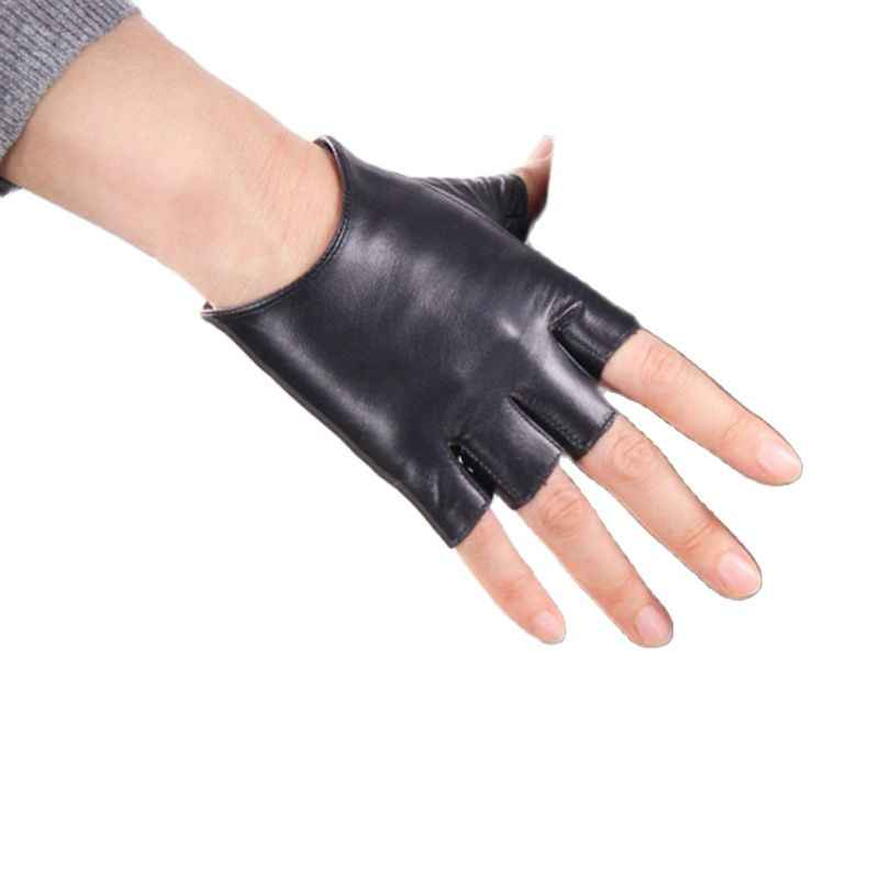 Genuine Sheep Leather Full Finger Driving Riding Out Door Walking Fashion Gloves