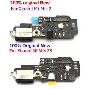 Original para Xiaomi Mi Mix 2S puerto de carga piezas de conector Cable flexible con micrófono para Mi Mix 2 Placa de carga rápida