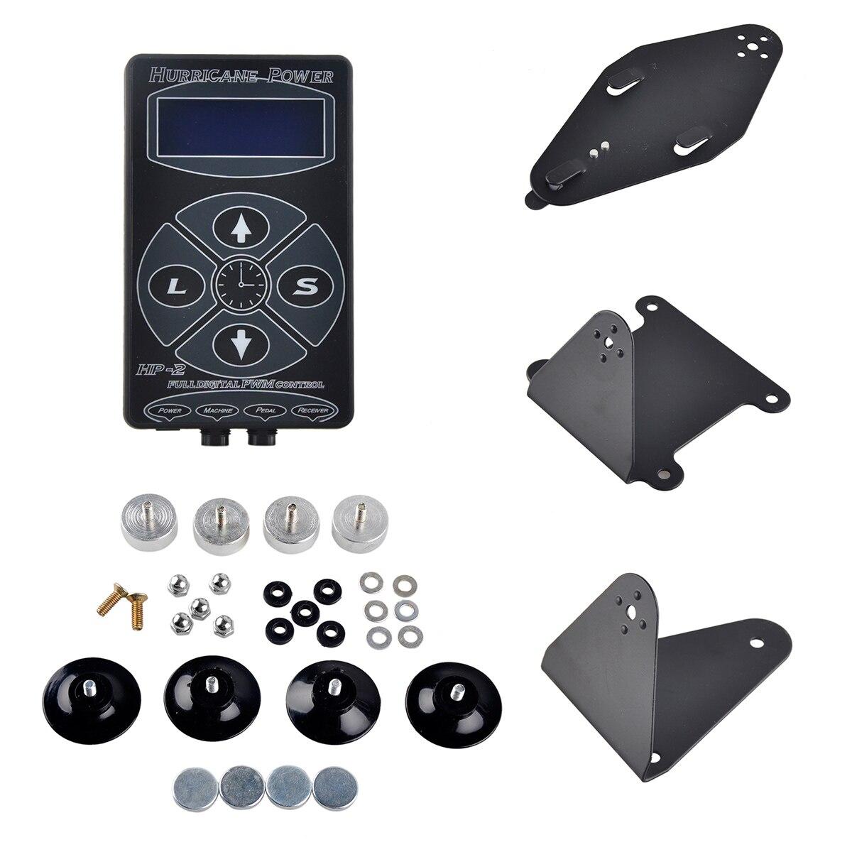 Tattoo Power Supply Digital Power HP-2 LCD Display Black/Silver/White For Kits Machine