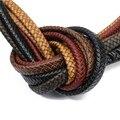 Плетеный шнур для браслета из натуральной кожи, ширина 10 мм, 12 мм, 1 ярд/комплект