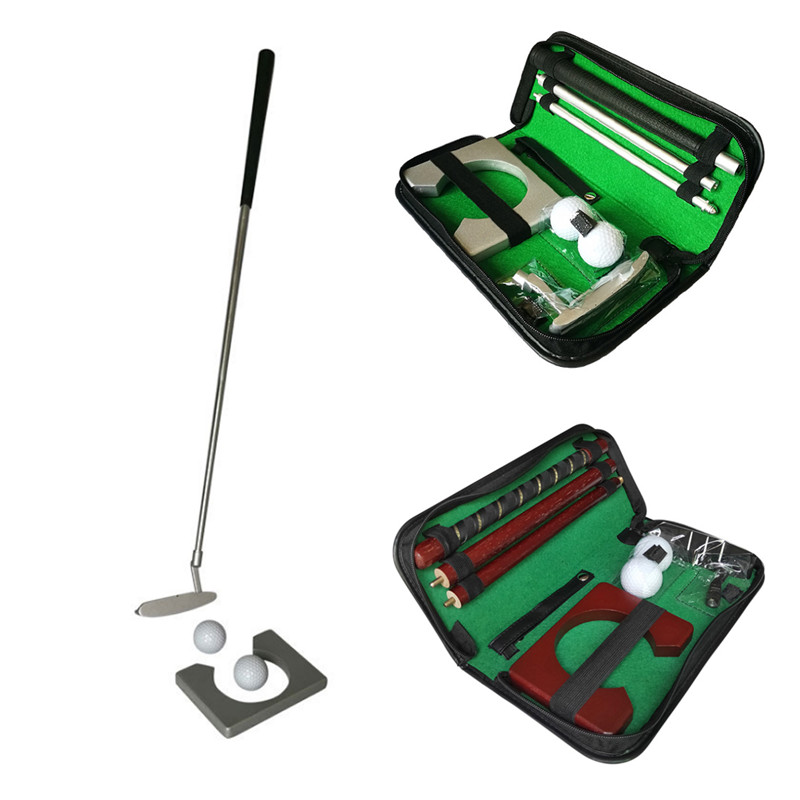 Golf Putter Putting Trainer Set Aluminum Alloy Rubber PVC Portable Golfs Ball Holder Training Aids Tool Accessories