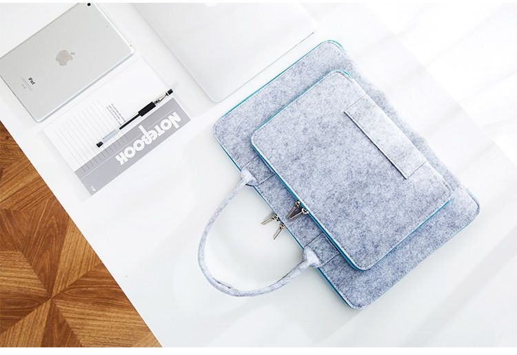 Wool Felt Universal Notebook Computer Laptop Sleeve Bag Case 12 13 15 for Macbook Air 13.3 Pro Case Xiaomi Air 13 Fasion