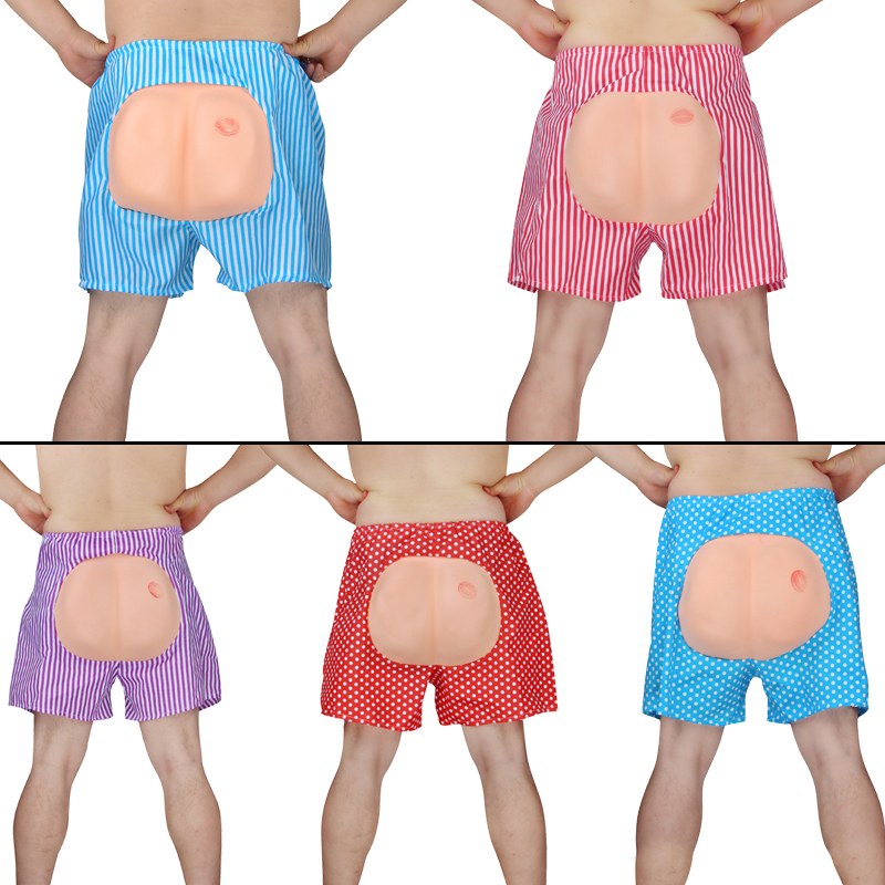 Colorful Exposed Ass Shorts Party Favors Anti Stress Toys Jokes Universal Funny Gadgets Prank Toy Antistress Halloween Gag