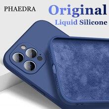 Custodia per telefono in Silicone morbido liquido originale per iPhone 12 Mini 11 Pro Max X XS MAX XR 7 8 6 6S PLUS SE 2020 Cover posteriore antiurto