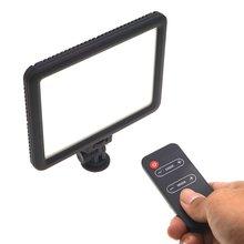 цена на VLD-P116 LED Slim LCD Bi-Color Dimmable Studio Video Light battery + charger LED photography light Set