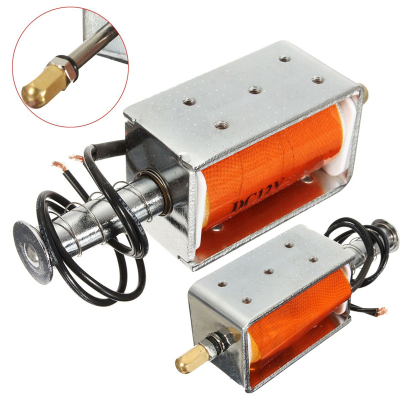 Electric 35mm Long-Stroke Push-Pull Solenoid DC12v Small Electromagnetic Electric Magnet